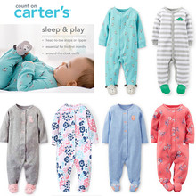 2016 new Original Carters Baby Girls & Boys Pajamas, 100% cotton brand  jumpsuits meninas clothes babies , newborn bebes rompers(China (Mainland))