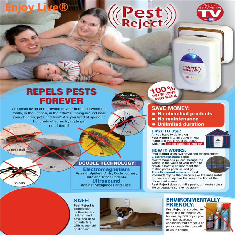 Electronic Ultrasonic Rat Mouse Repellent Anti Mosquito Cockroaches Repeller Rodent Pest Bug Reject Mole Repeller(China (Mainland))