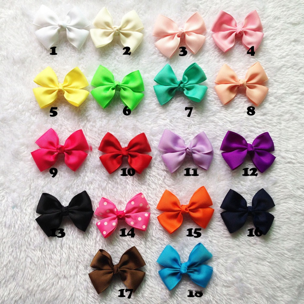 Wholesale Kids ribbon bows Without clip Handmade Boutique Hairbows Hair Accessories 30pcs/lot Freeshipping(China (Mainland))