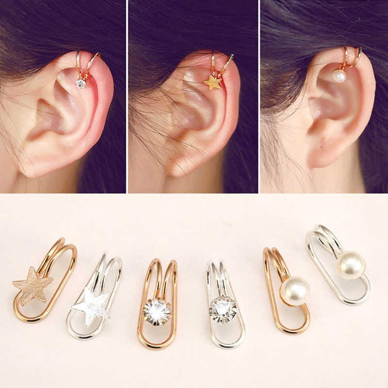 Пирсинг уха серьги серебро