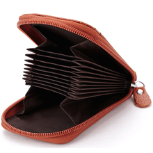 Genuine Leather Unisex Card Holder Wallets Hot Sale Female Credit Card Holders Women Pillow Card Holder Purse Multi-Card Bit X07