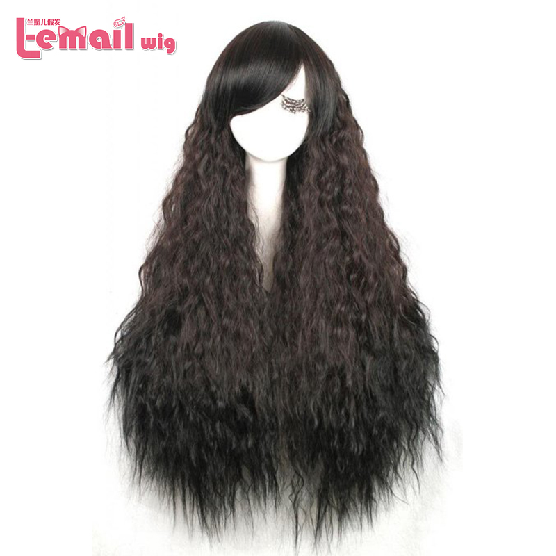 2014 New Hot Selling Women 90cm Long Curly Heat resistant synthetic Cosplay Black Rhapsody hair wig ZY71(China (Mainland))