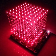 2016 Newest 3D Squared DIY Kit 8x8x8 3mm LED Cube White Blue/Red Light PCB Board - Shenzhen CarNival Trading Co., Ltd. store