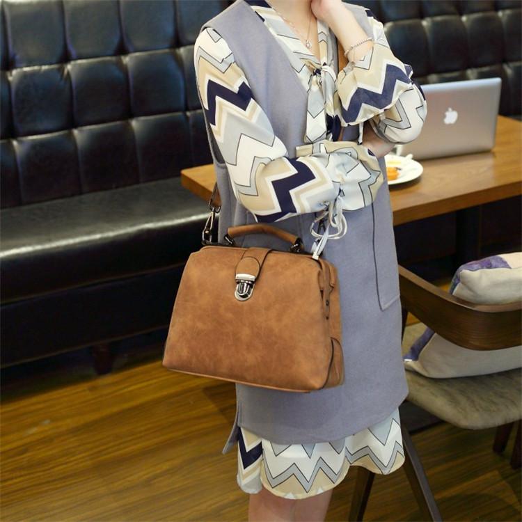 Shunvbasha Famous Brand Designer Docter Crossbody Messenger Bags 2016 High Quality Leather Women Fashion Handbags Shoulder Bag