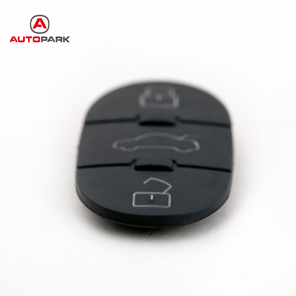Flip Fob Car Key Pad Replacement 3 Buttons Pad Panic for Audi Volkswagen Uncut Blade Car Key Shell(China (Mainland))