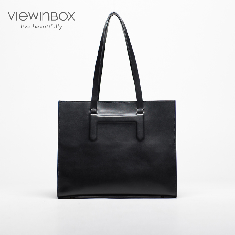 Viewinbox Woman Leather handbags Genuine Leather Woman Shoulder Bag Solid Fashion Leather Woman Bag