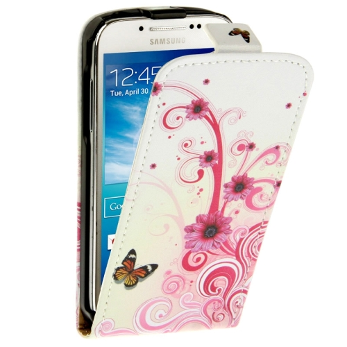 Samsung Galaxy S4 mini Case Butterfly Daisy Pattern Vertical Leather S 4 / i9190 - Tablet PC Mall store