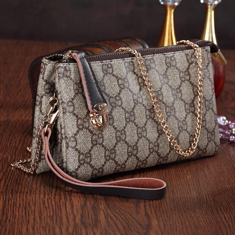 New Fashion 2015 Plaid Design Day Clutch Small Shoulder Bag Bolsas Femininas Messenger Bag Genuine Leather Women Handbag()