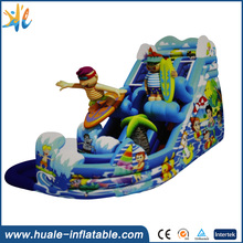 Plato 0.55mm pvc tarpaulin inflatable cartoons bouncer with slide /inflatable jumping castle bouncy inflatable castle(China (Mainland))