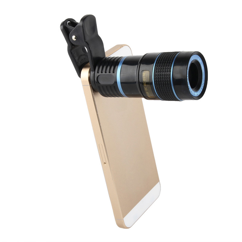 new universal 8x optical zoom telephoto blue camera lens. Black Bedroom Furniture Sets. Home Design Ideas