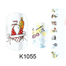 2015 New Brand Cartoon Lady Nail Sticker DIY Manicure Women Nail Sticker K1055 Fingernail stickers