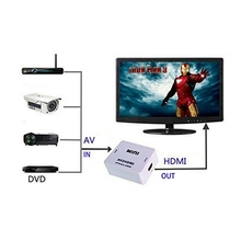 RV77 Mini AV2HDMI AV CVBS Composite to HDMI 720p 1080p Upscaling Video Converter Adapter(China (Mainland))