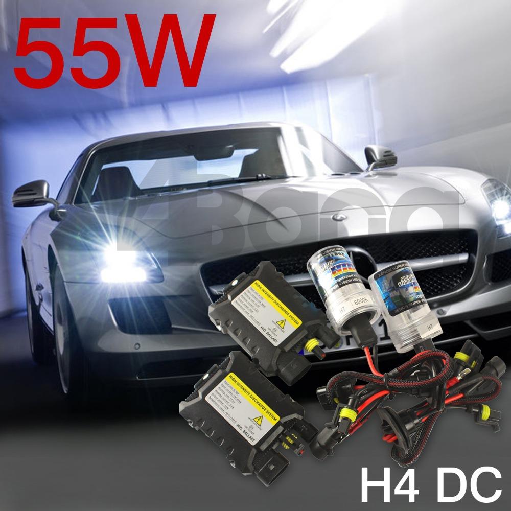 55W Xenon HID Kit Car Headlight Bulbs Slim Ballast H1 H3 H4-2 H7 H8/H9/H11 H16 9005 9006 880 88 4300K 6000K 8000K 10000K 12000K(China (Mainland))