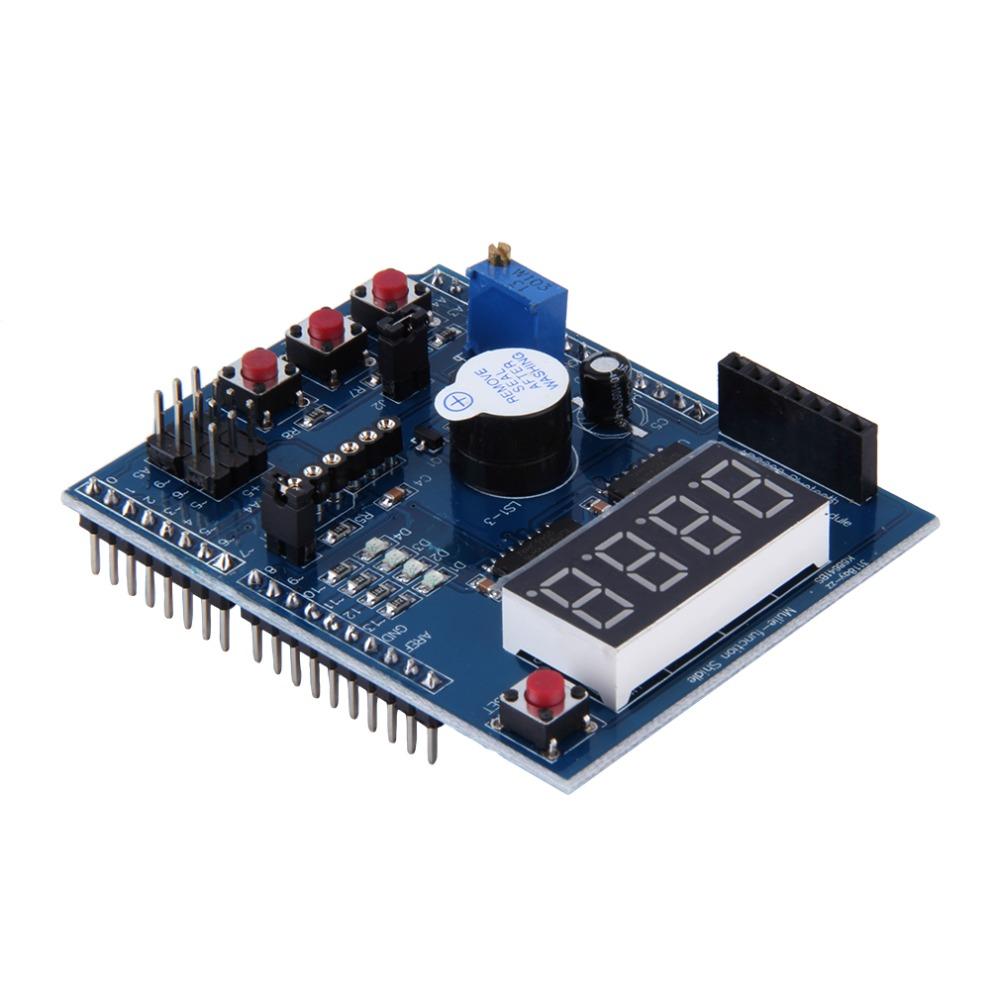 Multi-function Shield Multifunctional Expansion Learning Development Sensor Board 4 Way LED Indicator Blue Wholesale Digital(China (Mainland))