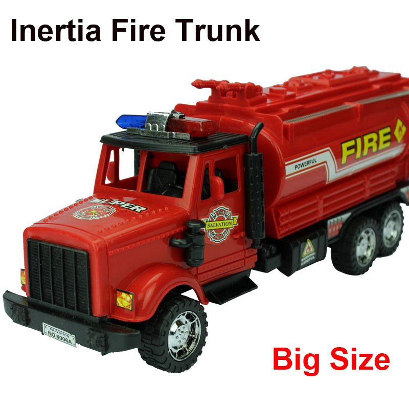 1:25 30cm long big size Fire Truck red plastic model toy aerial fire truck taxied toy baby educational(China (Mainland))