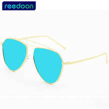 Buy 2017 new women's sunglasses women sun glasses Vintage retro big frame Brand design Metal mirror lens oculos de sol feminino 151 for $9.56 in AliExpress store