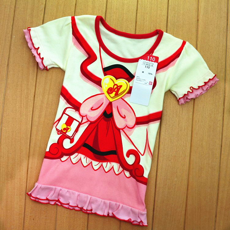 Foreign Trade Children's Clothing Single Summer 2015 New Girl Short Sleeved T-shirt Agaric Half Sleeve Shirt Baby Coat - rebecca lin's store