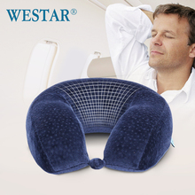 High quality hot sales a neck u-shaped pillow memory cotton nap plane travel car u-shaped cervical pillow(China (Mainland))