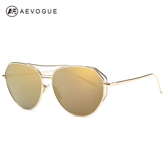 Очки aEVOGUE женщины металлический каркас щит летний стиль дизайн бренда солнцезащитные очки óculos De Sol Feminino UV400 AE0311