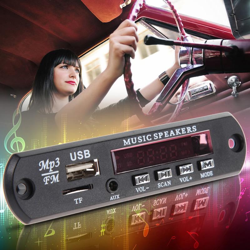 BEST 12V Car Music MP3 WMA Decoder Board Audio Decoder Board Module USB TF FM Radio(China (Mainland))