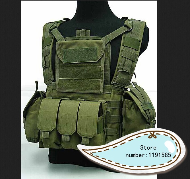 Outdoor Tactical Airsoft Molle Canteen Hydration Combat RRV Vest Green(China (Mainland))