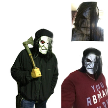 Black Long hair Cosplay ghost mask Blooding Ghost Mask Halloween Cosplay Halloween costumes supplies Ghost Mask