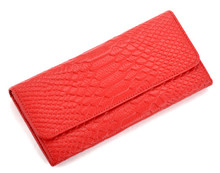 Free Shipping Serpentine Genuine Leather Bag Women Wallets Purses Female Clutch Wallet Lady Vintage Coin Purse