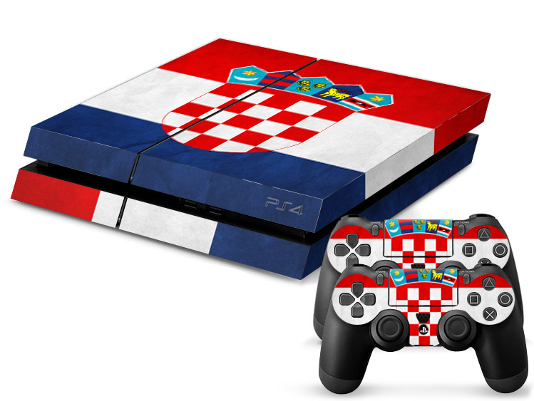 Croatia Football Team Sticker for PS4 console + 2Pcs Controller Skin Console Stickers for PS4 Protective Skin Free shipping(China (Mainland))