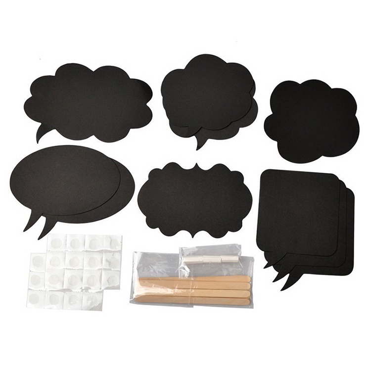 2015 New Hot 10 Pcs Photo Booth Prop DIY Bubble Speech Chalk Board Wedding Party Photobooth(China (Mainland))