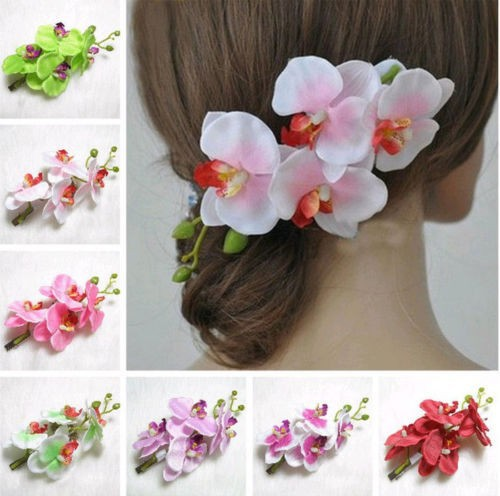 Fashion Beauteous Hair Flower Clip Pin Bridal Wedding Prom Party for Girl Women New(China (Mainland))