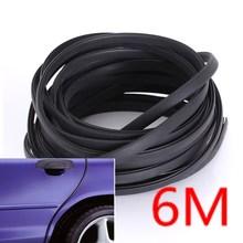 6M Black Moulding Trim Strip Car Door Scratch Protector Edge Guard Cover Crash Rubber Sealing Strip Anti Wear Rubber Strip(China (Mainland))