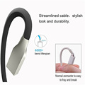 Anti Knotting Micro Usb Cable Zinc Alloy Flat Cord Lead 3ft 1M Fast Charging for Samsung
