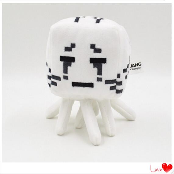2015 Minecraft Plush Toys 16CM Ghast Animal Plush Stuffed Toys Kids High Quality Soft Plush Dolls Factory Price Holiday Gift(China (Mainland))