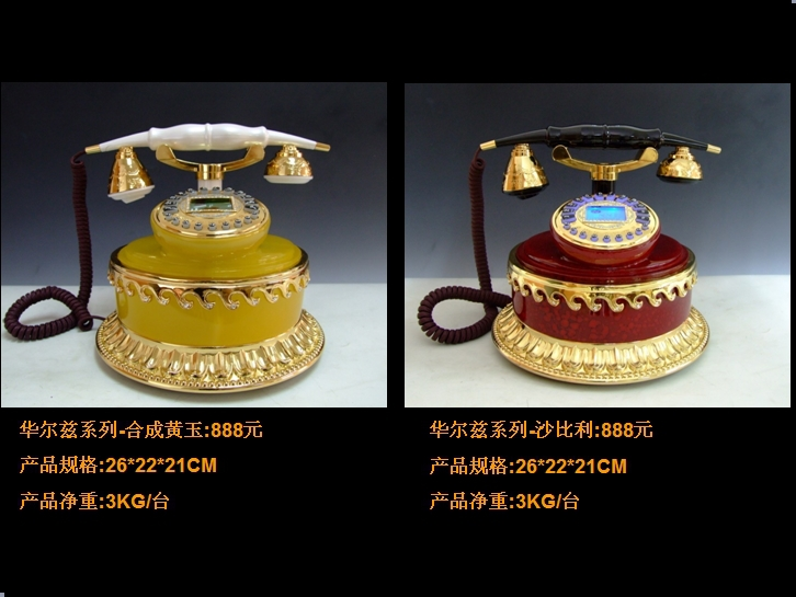 Upscale antique telephones opened a business office gift creative fashion jade landline telephones