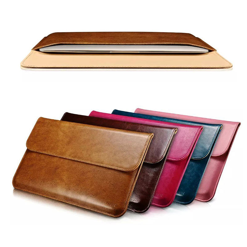 Luxury genuine leather sleeve for apple macbook air 11 13 for Housse macbook 13