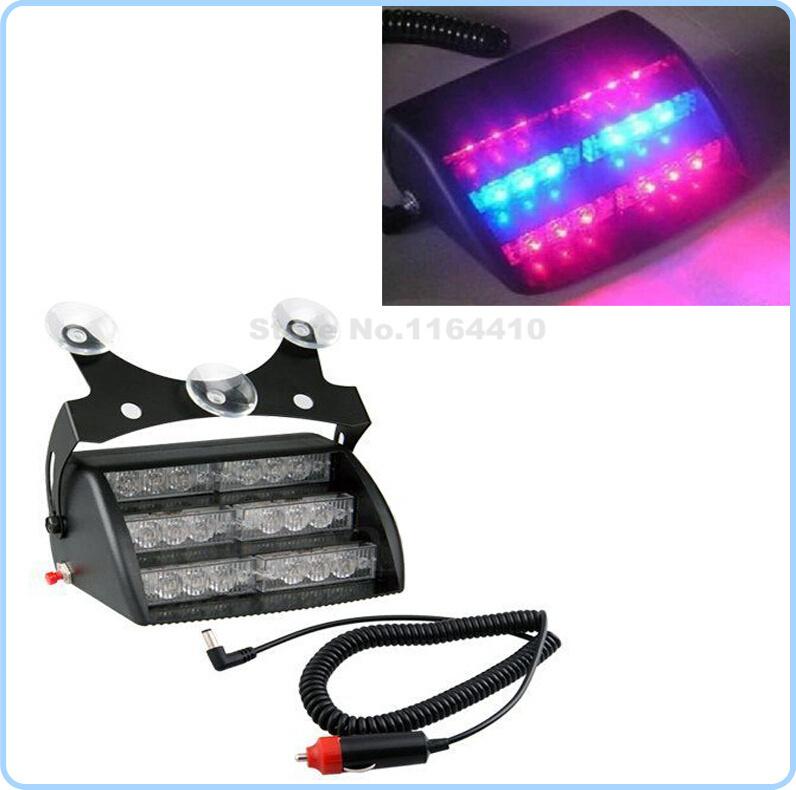 3 6 18 led car emergency vehicle strobe lights windshields. Black Bedroom Furniture Sets. Home Design Ideas