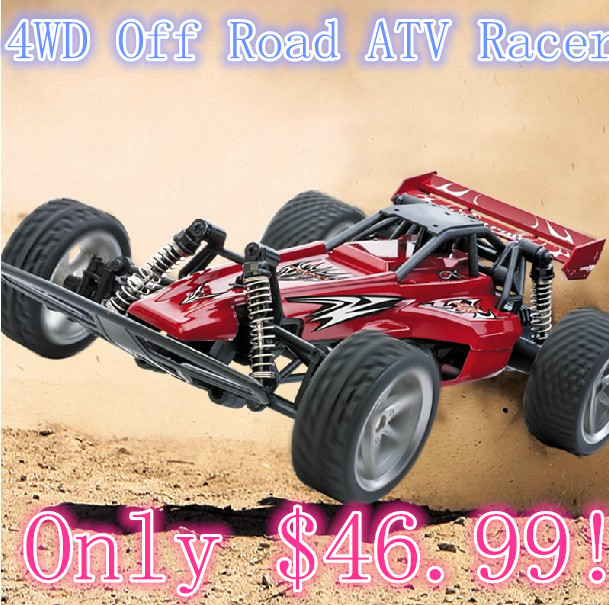 GPTOYS 1/14 RTR 4WD Off Road Toys RC Hobby Dune Buggy Cars/Traxxas Discover 4WD Electric ATV Bandit short course truck Blue/Red(China (Mainland))