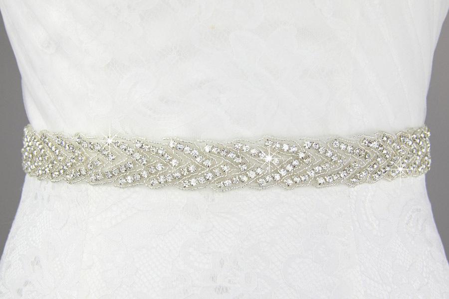 Handmade top level crystal bridal belt shiny czech diamond belt jewelry fashion wedding dress belt accessories wholesale(China (Mainland))