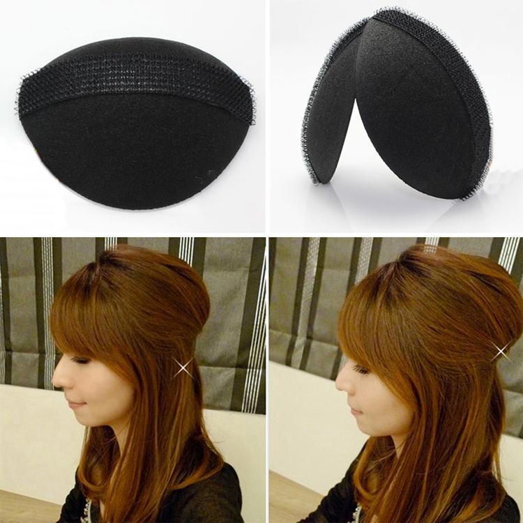 2 Pcs/Set ! Magic DIY Hair Fluffy Sponge Princess Head Secret Updo Tuck Fashion Hair Styling Accessories Color Black(China (Mainland))