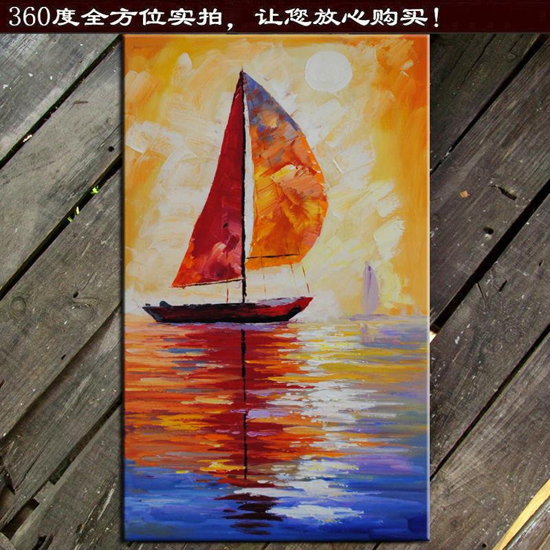 Achetez en gros bateau voile peinture l 39 huile en ligne des grossistes bateau voile - Entree schilderij ...