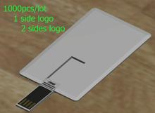 1000pcs/Lot Customized logo business card usb flash drive 128MB 1GB 2GB 4GB 8GB 16GB 32GB Best choice for Gift(China (Mainland))