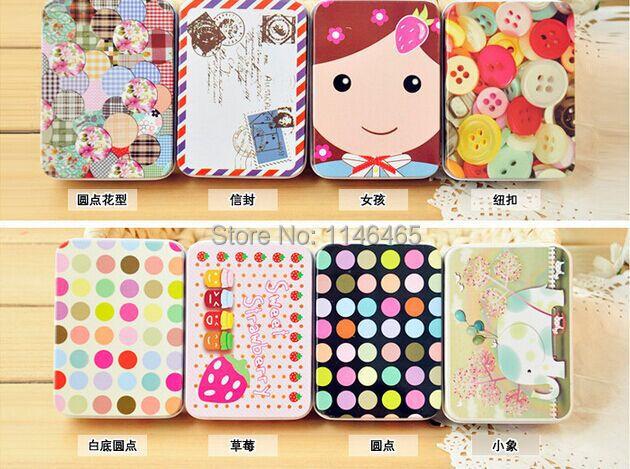 Hot selling 200pcs/lot, tin sheet small storage box Creative flash card candy box girls gift Free shipping(China (Mainland))