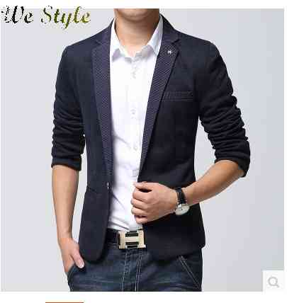 Free Shipping luxury mens contrast color stream splicing of leisure suit fashion 1438231219(China (Mainland))