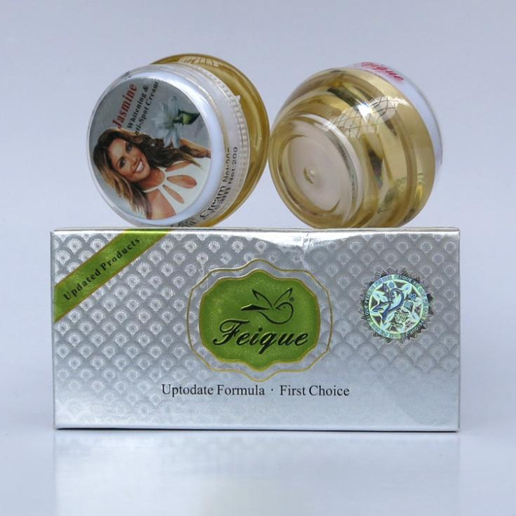 wholesale 2014 New Arrival FEIQUE jasmine whitening and anti spot anti freckle cream 20g+20g 12set/lot face care<br><br>Aliexpress