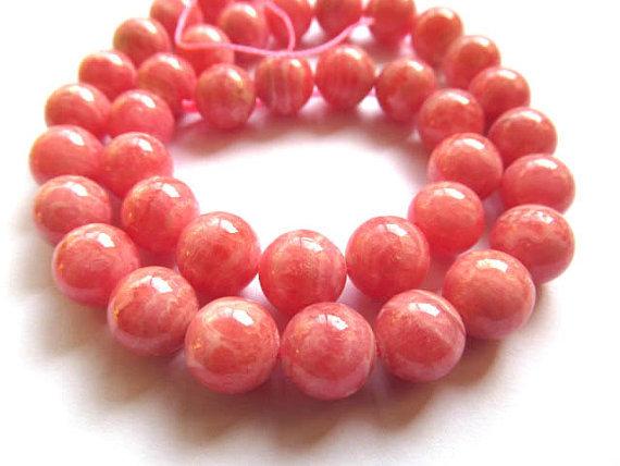 4-12mm 16inch pink Argentine genuine rhodochrosite beads round ball jewelry chain  -  jewelrystore store