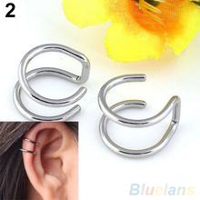 Men's Women's Clip-on Earrings Non-piercing Ear Cartilage Cuff Eardrop Ear Clip 4K4F(China (Mainland))