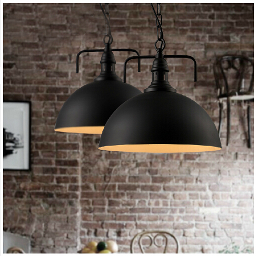 industrial style brief novel led e27 aluminum pendant lamp dining room