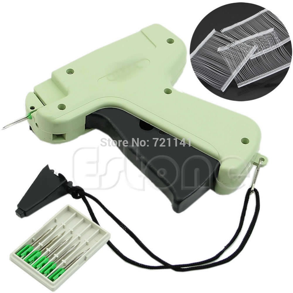 New Clothes Garment Price Label Tagging Tag Gun + 1000 Barbs + 5 Needles