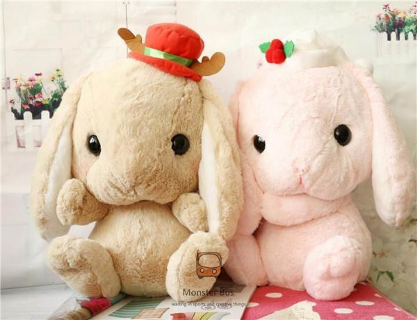 Lolita Plush Rabbit 40cm Cute Soft Lop Bunny Cosplay Princess Sweet Doll Loppy Bunny Shy Bunny Christmas Style Children's Gift(China (Mainland))