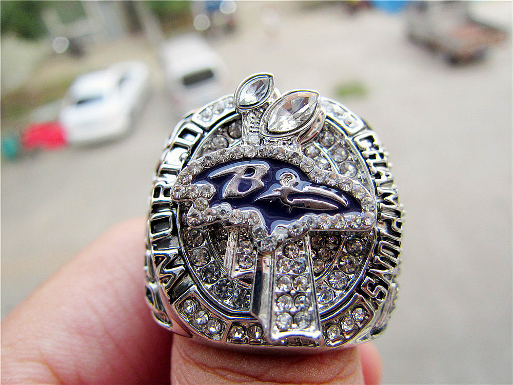 Free Shipping replica 2012 Baltimore Ravens Super Bowl Championship Ring Size 11 Solid Solid high quality wholesale(China (Mainland))